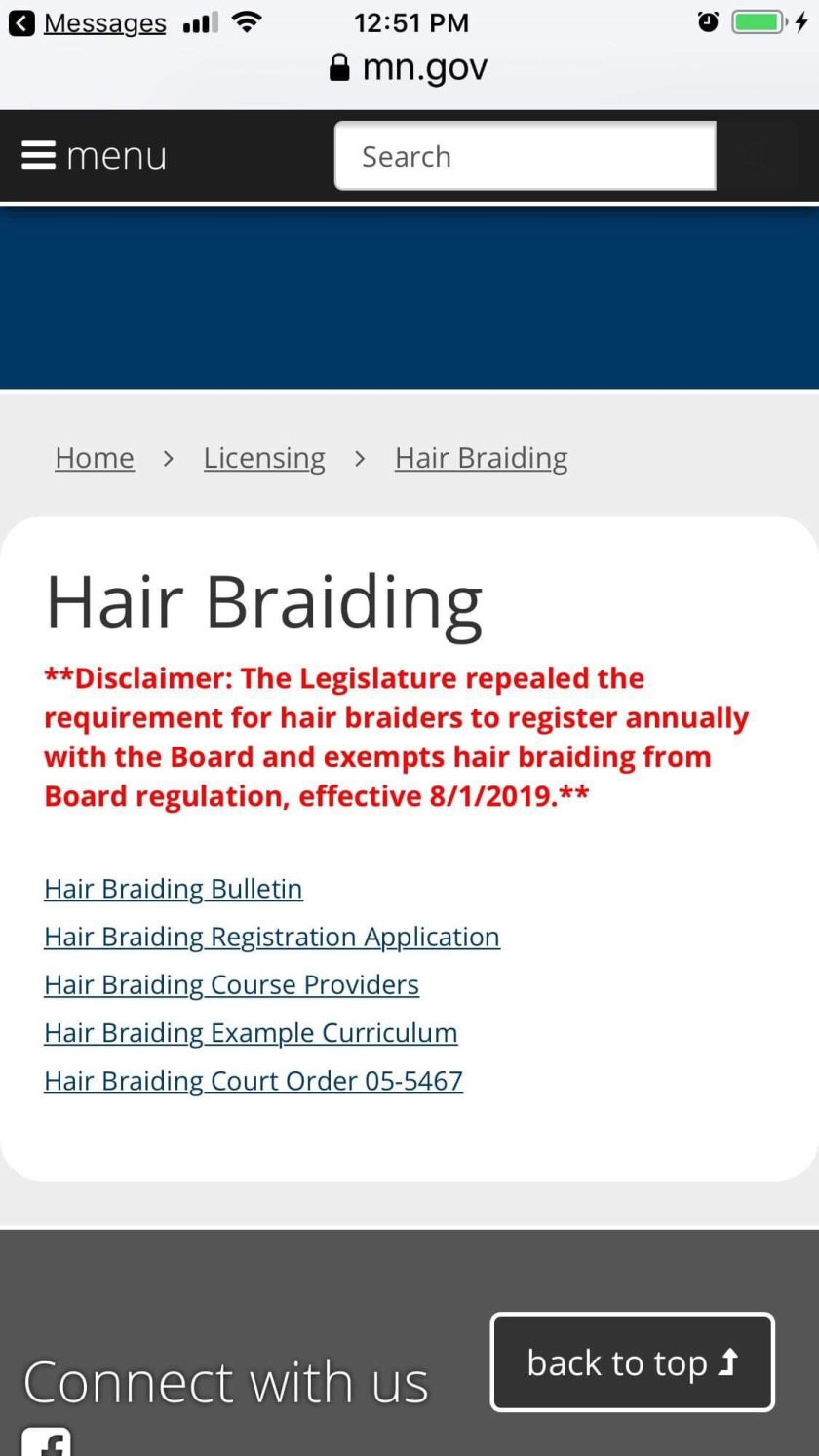 Hair Braiding REPEALED